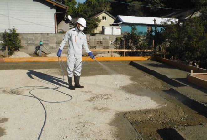白蟻予防土壌処理大津町